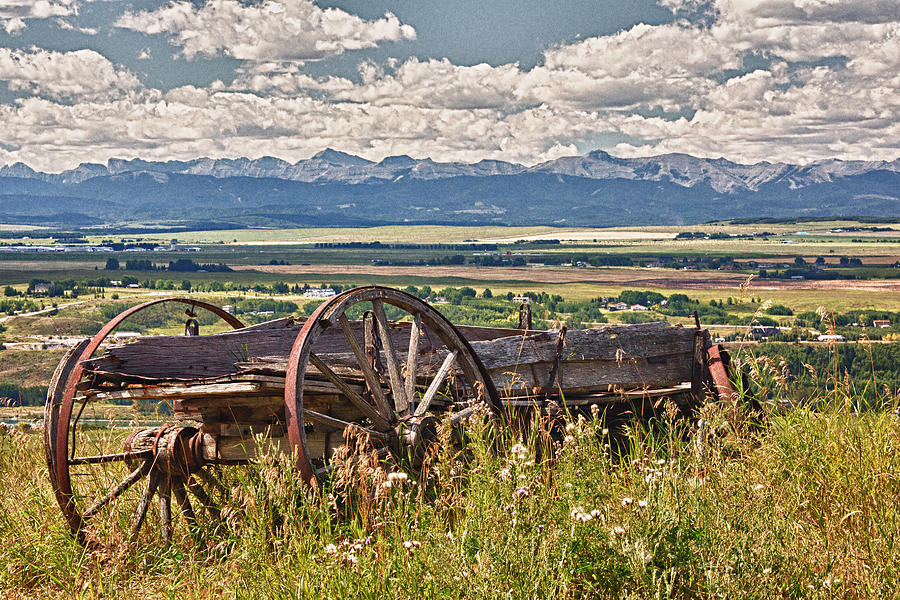 Wagon Photograph - Old Country Wagon Mountains by Rob Moses
