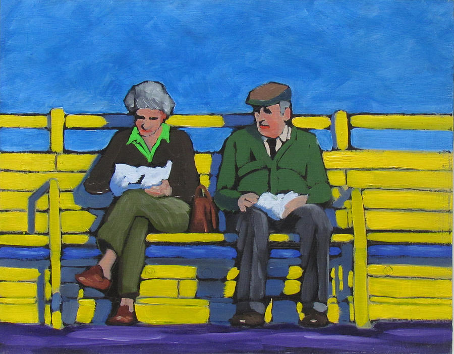 Image result for old couple painting