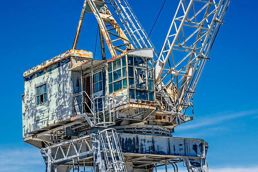 Abandoned Photograph - Old Crane  by Boss Photographic