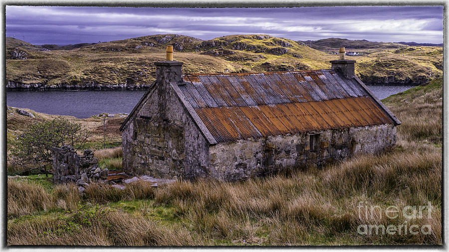 Landscape Photograph - Old Croft Near Scalpay Isle Of Lewis by George Hodlin