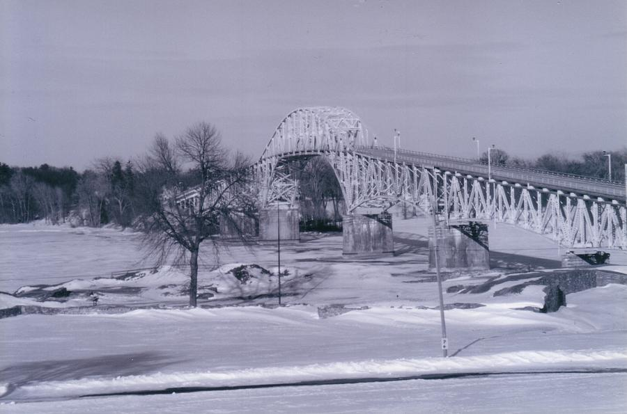 Crown Point Photograph - Old Crown Point Bridge In Winter by David Fiske