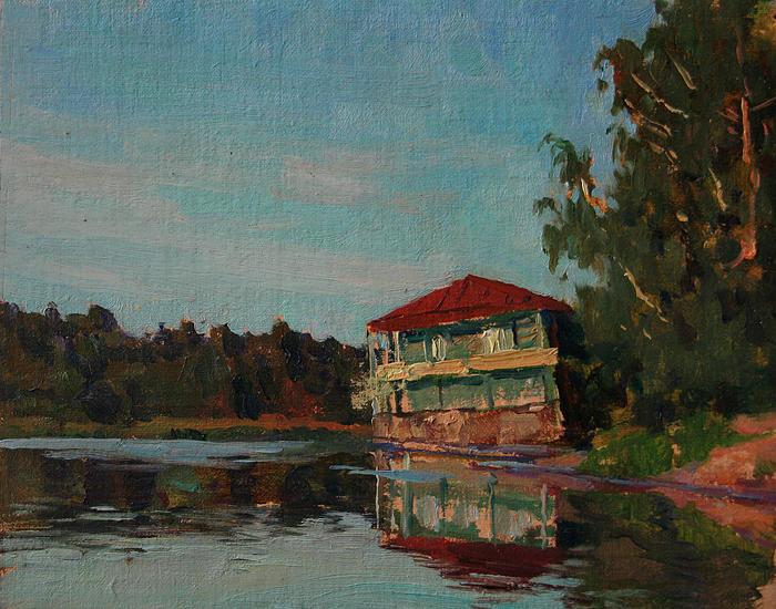 Duck Painting - Old Debarkader by Korobkin Anatoly