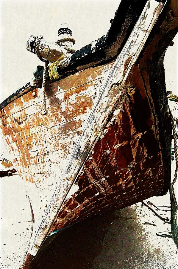 Boat Digital Art - The Old Dhow by Peter Waters