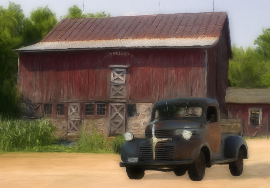 Old Painting - Old Dodge Truck by Jack Zulli