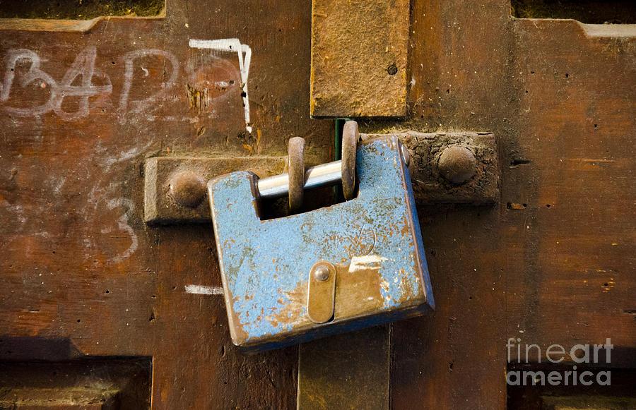 Photograph Photograph - Old Door Padlock by Victoria Herrera