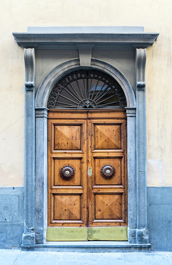 Old Double Door With Stonework Frame Photograph by -darsana-