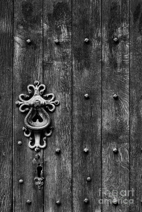 Old Photograph - Old English Church Door Handle by Tim Gainey