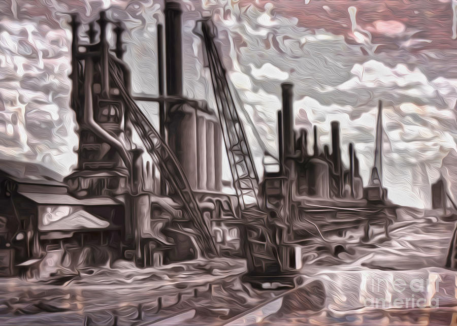 Old Factory Painting - Old Factory by Gregory Dyer