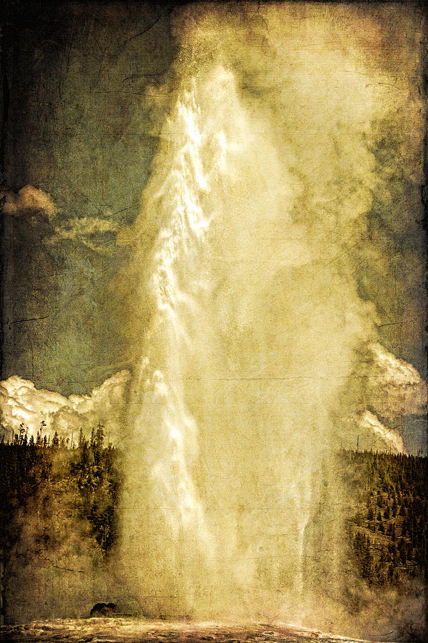Old Faithful Photograph - Old Faithful Memories by Lincoln Rogers