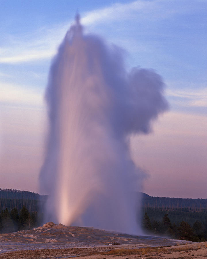 Yellowstone National Park Photograph - Old Faithfuls Ghost by Tony Santo