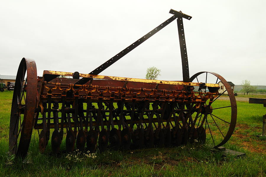 Antiques Photograph - Old Farm Equipment by Jeff Swan