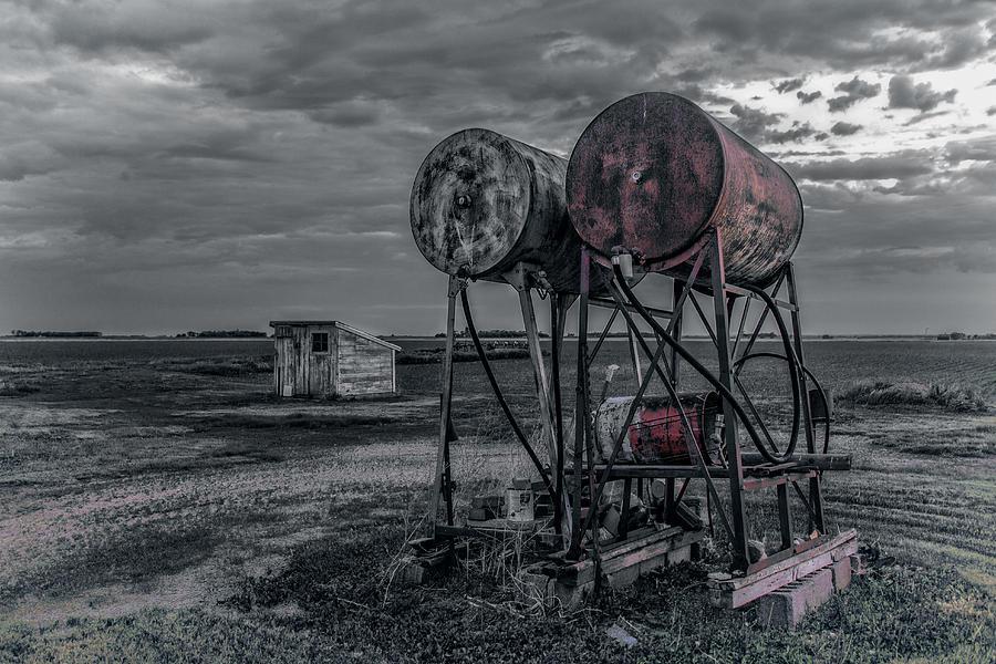 farm photograph old farm fuel tanks by ray van gundy