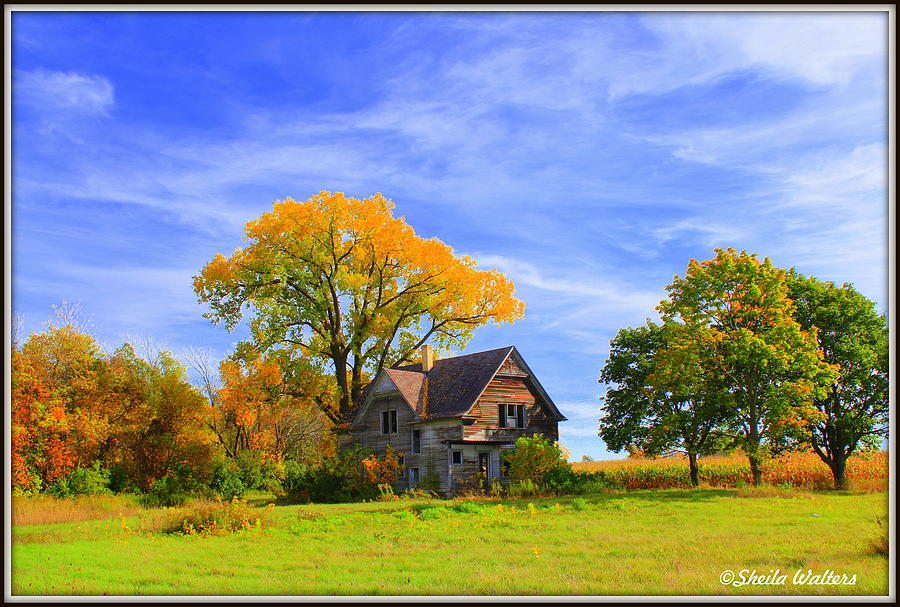 Landscape Photograph - Old Farm Home by Sheila Werth