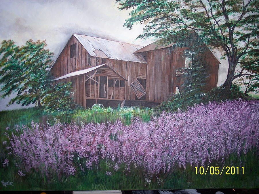 Lanscape Painting - Old Farm house by Jim  Reale