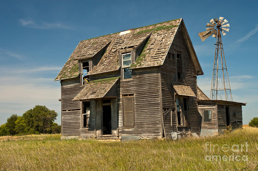 Old Farm House Kansas Photograph By Richard And Ellen Thane