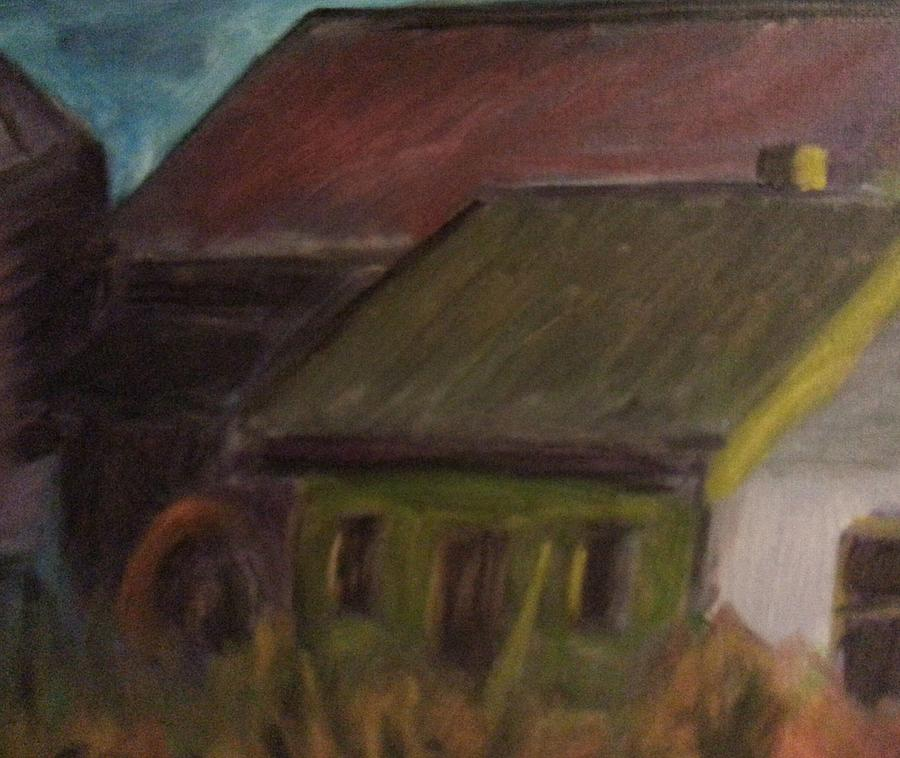 Landscape Painting - Old Farm by Steve Jorde