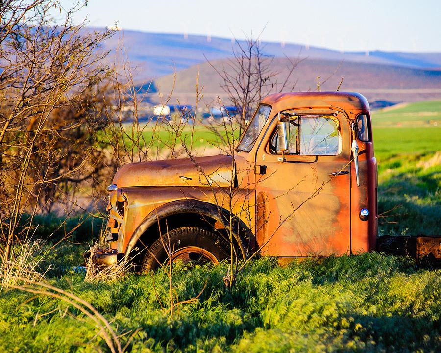 Farm Truck Photograph - Old Farm Truck by Steve G Bisig