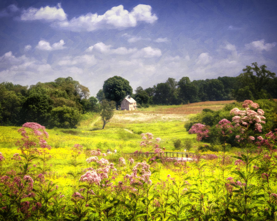 Meadow Photograph - Old Farmhouse At Longwood Gardens by Vicki Jauron