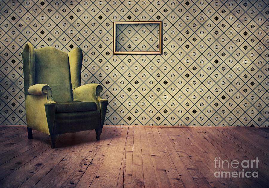 Armchair Digital Art - Old Fashioned Armchair by Jelena Jovanovic