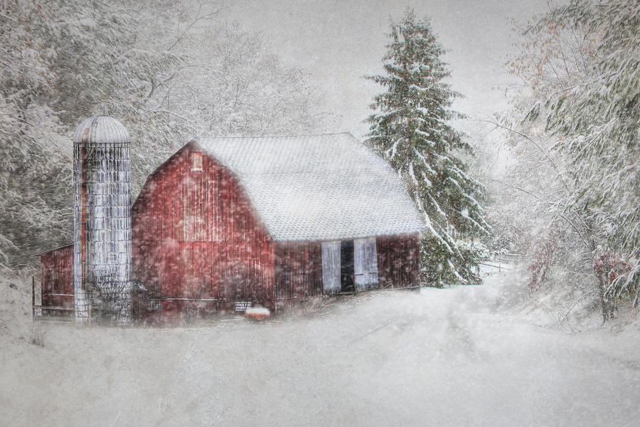 Barn Photograph - Old Fashioned Christmas by Lori Deiter