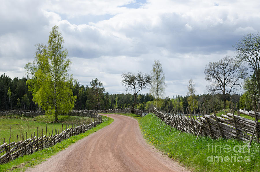 Ahead Photograph - Old Fashioned Gravel Road by Kennerth and Birgitta Kullman