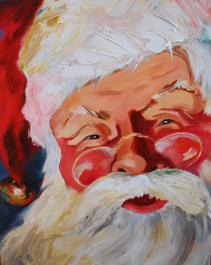Old Fashioned Santa Painting by DJ Stone
