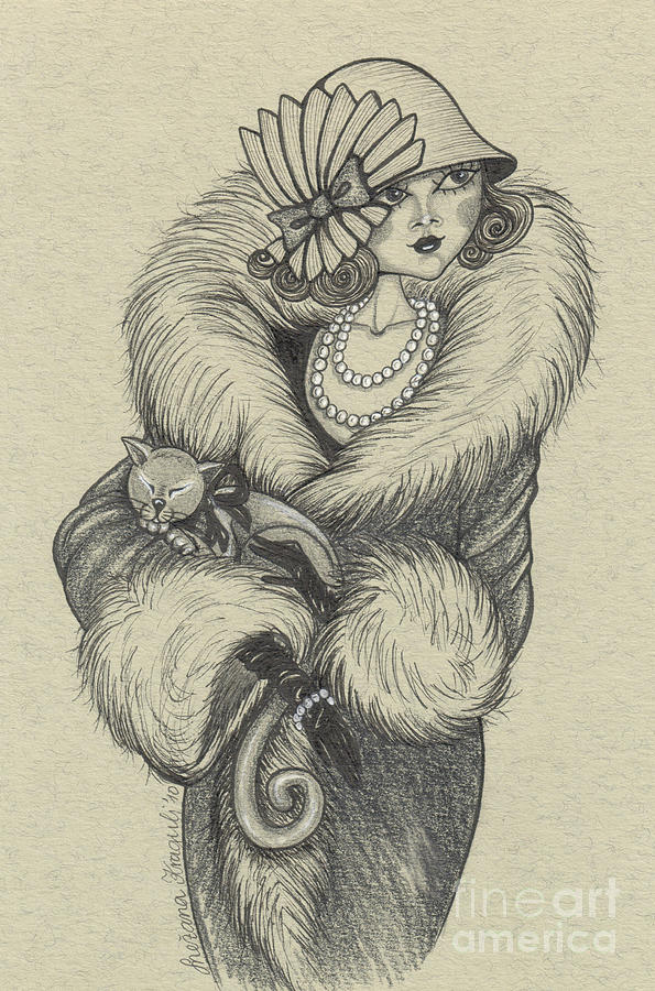 Drawing Drawing - Old-fashioned by Snezana Kragulj