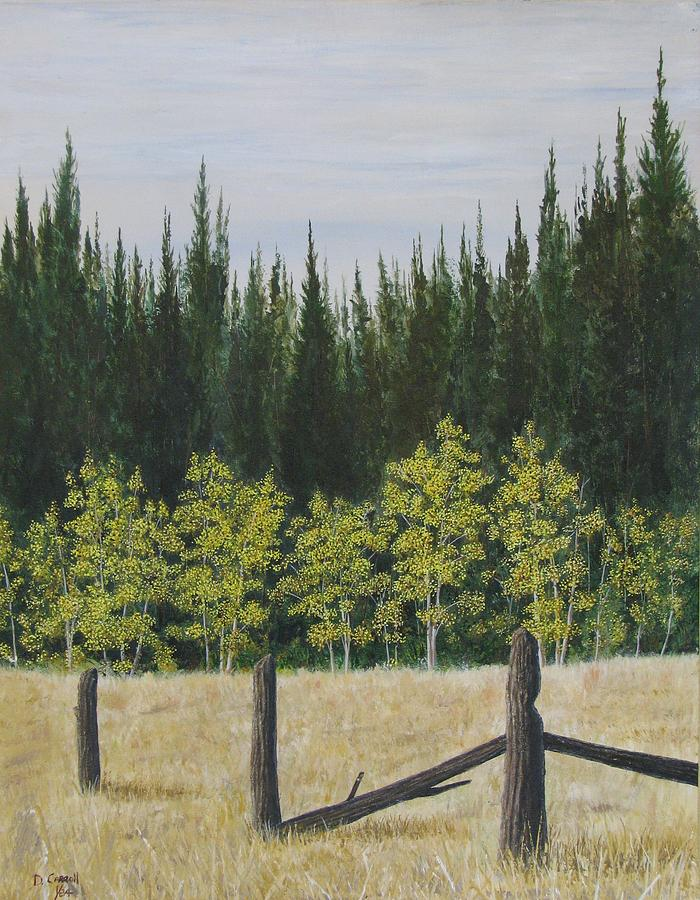 Landscape Painting - Old Fences by Dana Carroll
