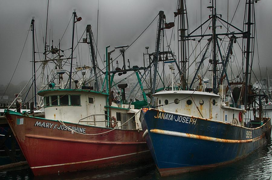 Old Fishing Boats by Pamela Hodgdon