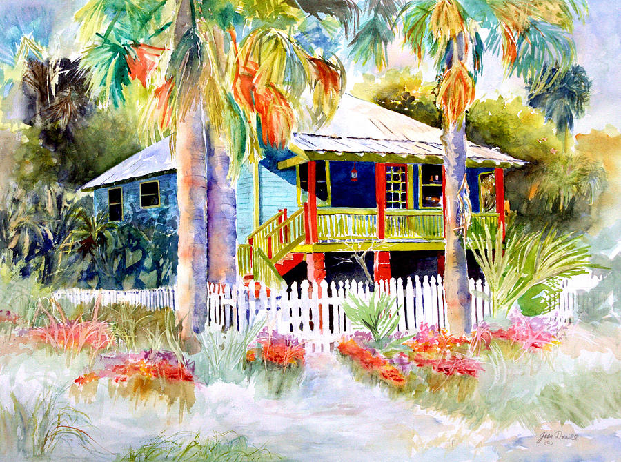 Landscape Painting Painting - Old Florida House  by Joan Dorrill