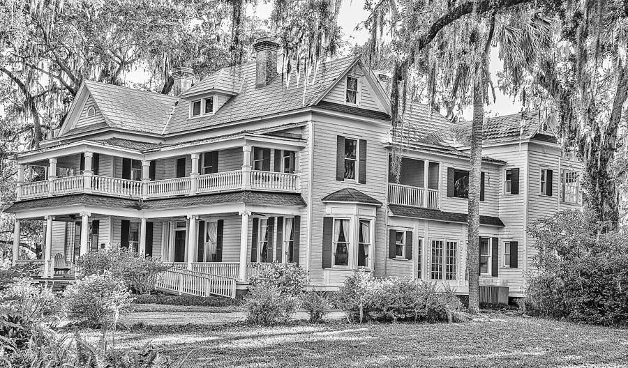 Birds Photograph - Old Florida Mansion by Cliff C Morris Jr