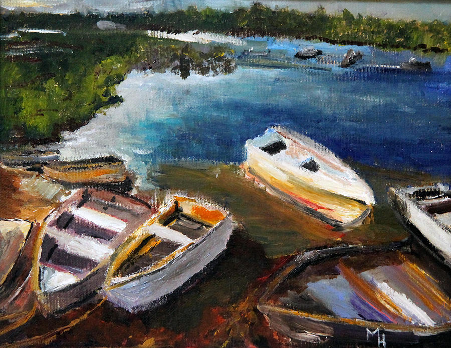 Boats Painting - Old Folks Home by Michael Helfen