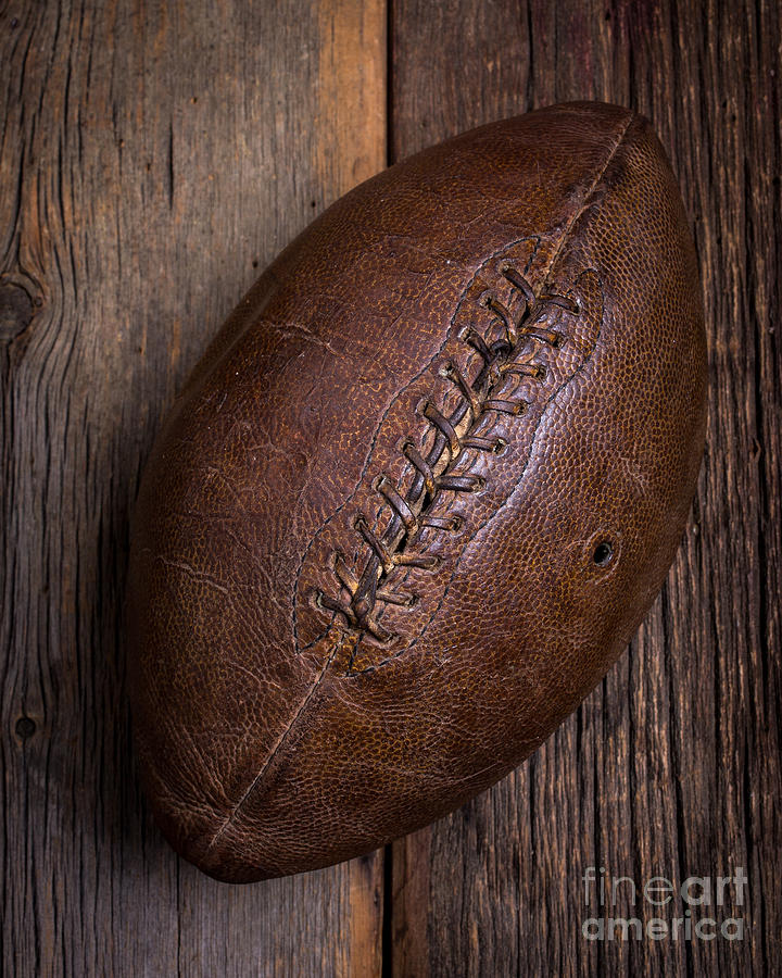 Football Photograph - Old Football by Edward Fielding