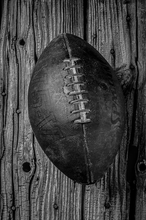Old Photograph - Old Football by Garry Gay