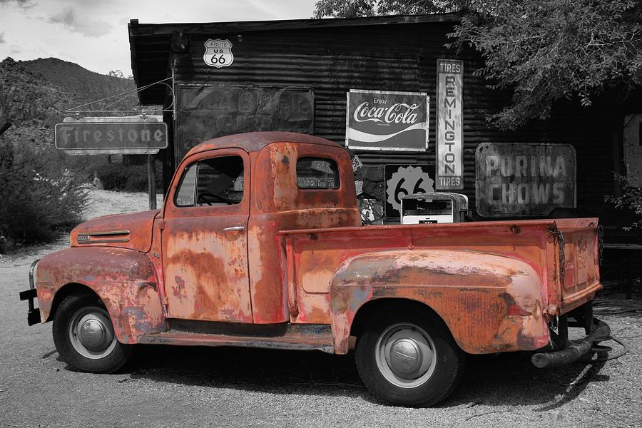 Old Ford Pickup Truck On Route 66 Photograph by Robert Sirignano