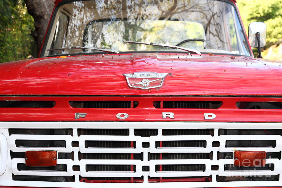 Transportation Photograph - Old Ford Truck 5d22422 by Wingsdomain Art and Photography