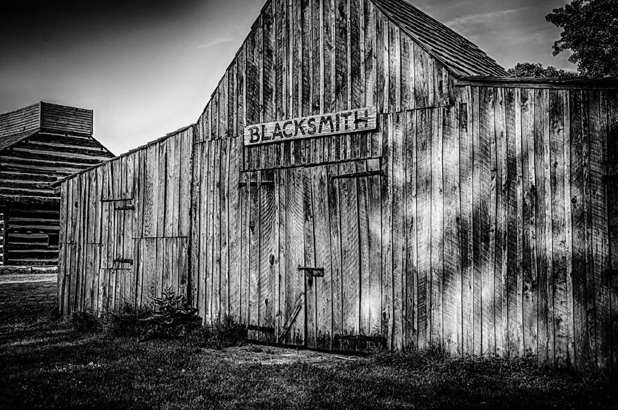 Blacksmith Shop Photograph - Old Fort Wayne Blacksmith Shop by Gene Sherrill