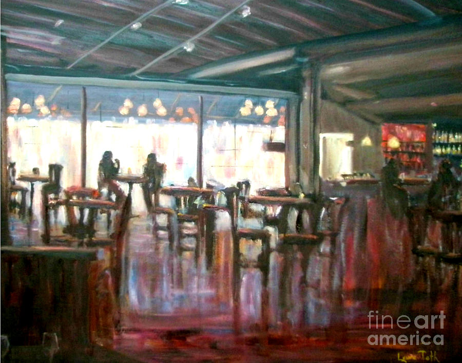 Restaurants Painting - Old Friends by Laura Toth