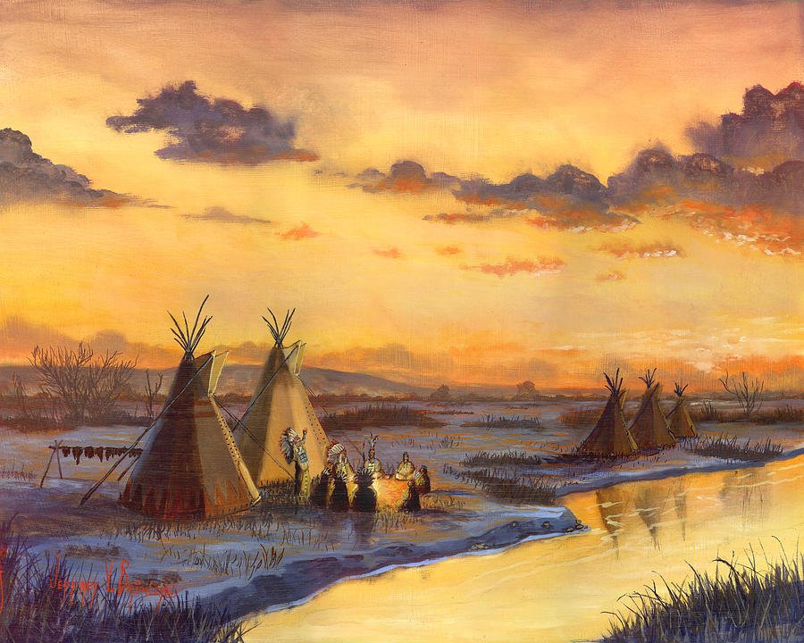 Oil Painting Painting - Old Friends New Stories by Jeff Brimley