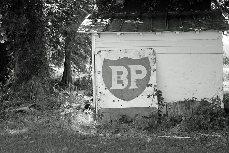 Sign Photograph - Old Gas Station Sign by Carolyn Ricks