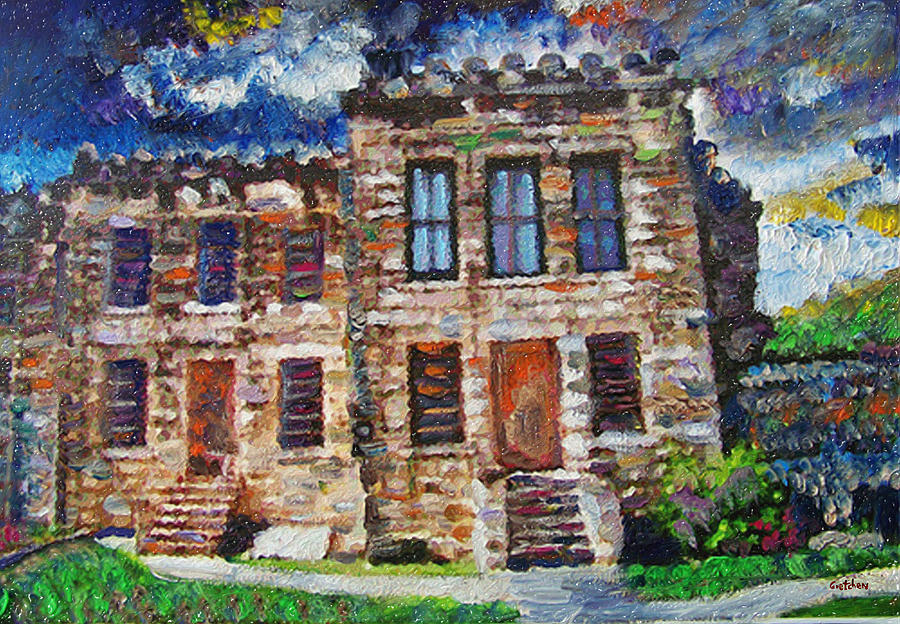 Jails Painting - Old Georgetown Jail by GretchenArt FineArt