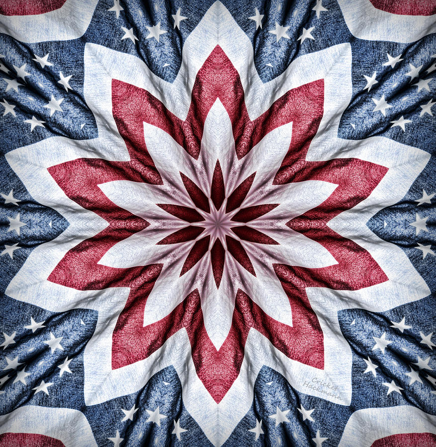 Kaleidoscope Photograph - Old Glory by Cricket Hackmann