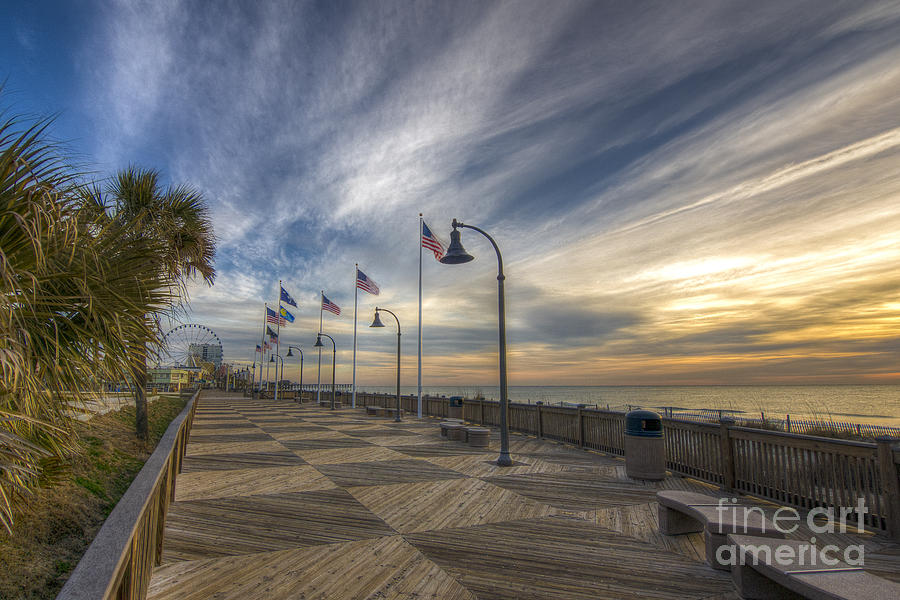 Myrtle Beach Photograph - Old Glory Flying by Matthew Trudeau