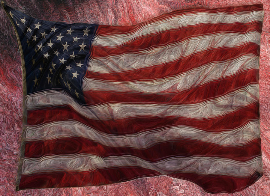 Photo Painting - Old Glory by Jack Zulli
