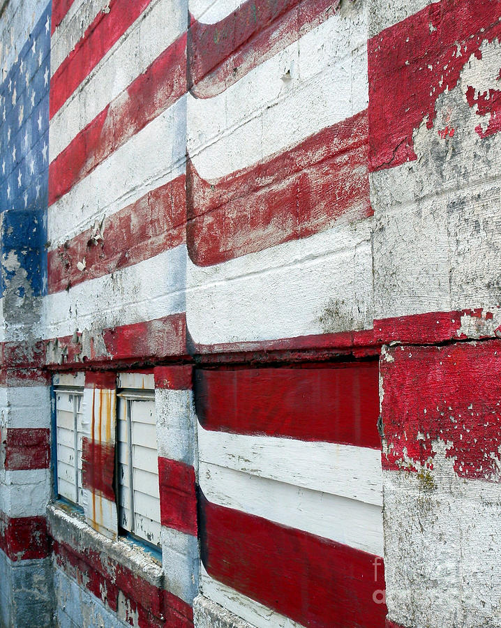 Old Glory Photograph - Old Glory Mural by Robert Riordan