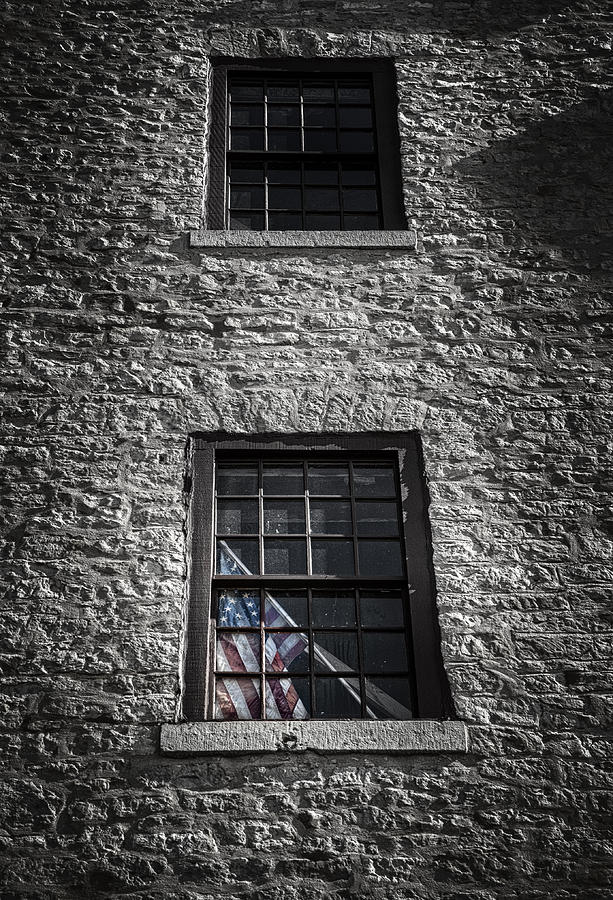 Brick Photograph - Old Glory by Scott Norris