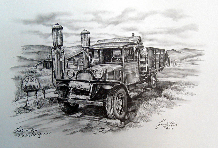 Vehicle Drawing - Old Graham  by Jonni Hill