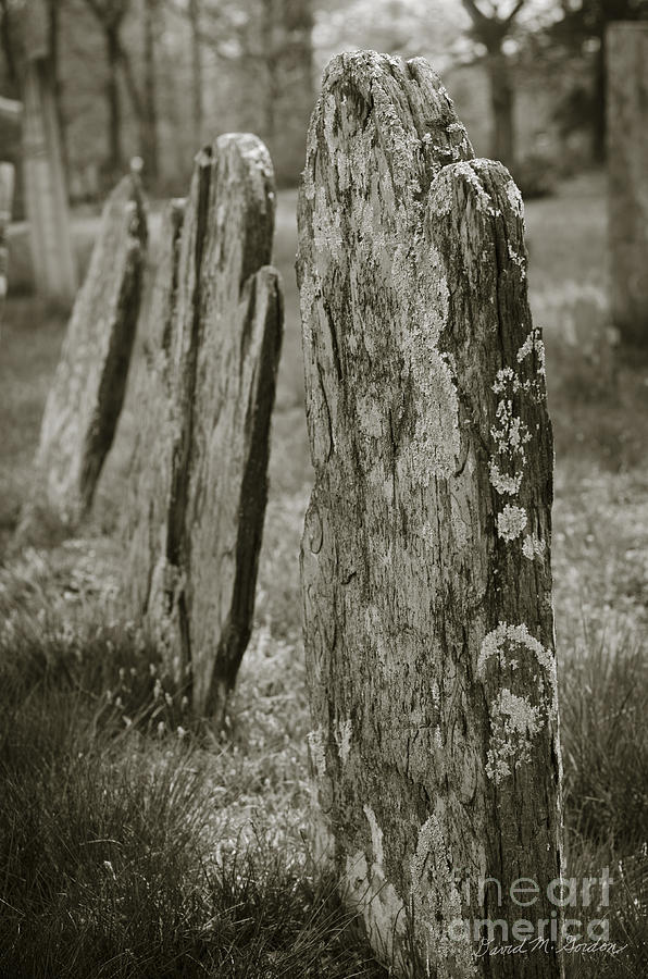 Cemetery Photograph - Old Gravestones I by Dave Gordon