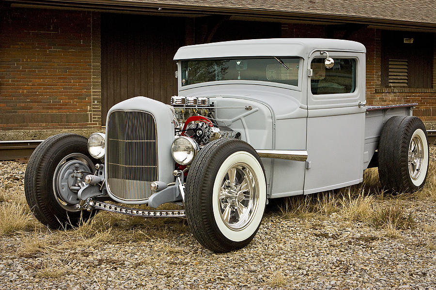 Old Gray 1932 Ford Pickup Photograph by Audra J Shields