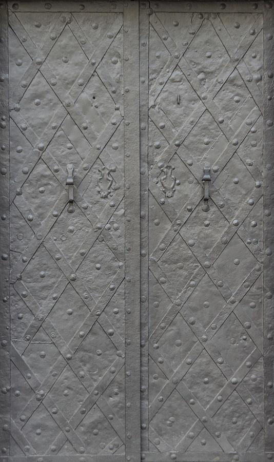 Old Grey Metal Door Photograph by Bogdan Khmelnytskyi
